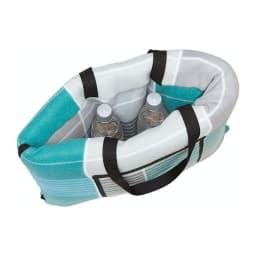 COGIT(コジット)/大判のレジャークッションシートになるフリースバッグ 畳むとバッグ状になって持運びが楽々!ペットボトルや財布などの小物を入れられます。