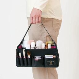 COGIT(コジット)/持ち運びに便利な洗えるコスメバスケット 持ち手付きで持ち運び便利。