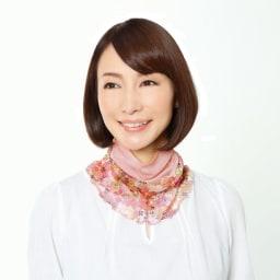 COGIT(コジット)/シルクネックロール ツートン (ア)ピンク系