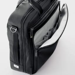 ace.GENE(エース ジーン)/フレックスライトフィット A4サイズ軽量ビジネスバッグ 前ポケットには大小さまざまなポケットやペン挿しなどが集約