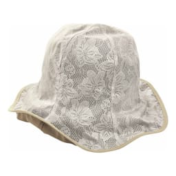 COGIT(コジット)/軽量はっ水アルミコーティング リバーシブル帽子 (イ)ベージュ/リバーシブル花柄面