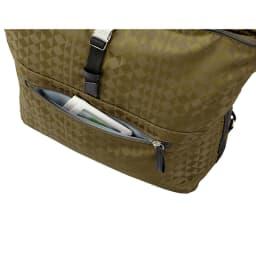 カナナプロジェクト モノグラム 2WAYショルダーバッグ *画像はNV1404 すぐに取り出したい小物の収納に便利な前ポケット