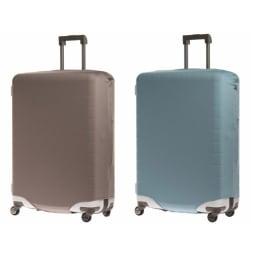 &P スーツケース/キャリーケースカバー (イ)グレー(無地)、(ウ)ブルー(無地) ※装着例