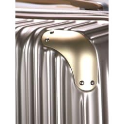 トライデント/拡張式ハードジッパースーツケース|キャリーケース・キャリーバッグ コーナーパッド