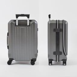 AMERICAN FLYER(アメリカンフライヤー)/ フロントオープン スーツケース キャリーケース・キャリーバッグ 35L…(エ)カーボンブラックBack/Side