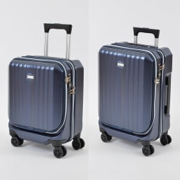 AMERICAN FLYER(アメリカンフライヤー)/ フロントオープン スーツケース キャリーケース・キャリーバッグ (ア)ブルー24L/35L
