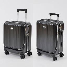 AMERICAN FLYER(アメリカンフライヤー)/ フロントオープン スーツケース キャリーケース・キャリーバッグ (イ)ブラック24L/35L