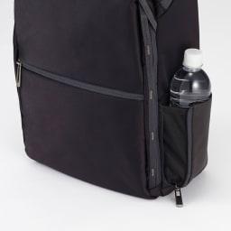 ace.GENE(エース ジーン)/Wシールドパック B4対応 ビジネスリュック 側面のオープンポケットには飲み物や折りたたみ傘を