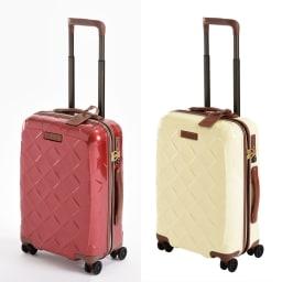 (Mサイズ 4輪/65L/3.43kg)Stratic(ストラティック)/「Leather & More」日本限定版 ハードスーツケース 中型(3-9902-65)|キャリーケース・キャリーバッグ Sサイズ/(イ)カーマインレッド、(ウ)ミルク