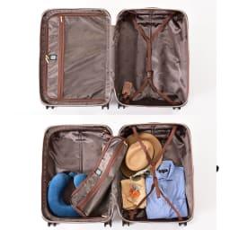 (Mサイズ 4輪/65L/3.43kg)Stratic(ストラティック)/「Leather & More」日本限定版 ハードスーツケース 中型(3-9902-65)|キャリーケース・キャリーバッグ Mサイズ