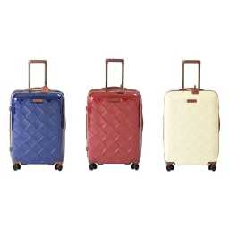 (Mサイズ 4輪/65L/3.43kg)Stratic(ストラティック)/「Leather & More」日本限定版 ハードスーツケース 中型(3-9902-65)|キャリーケース・キャリーバッグ Mサイズ/(ア)ネイビーブルー、(イ)カーマインレッド、(ウ)ミルク