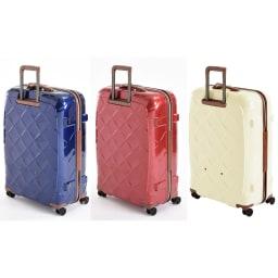(Lサイズ 4輪/100L/4.36kg)Stratic(ストラティック)/「Leather & More」日本限定版 ハードスーツケース 大型(3-9902-75)|キャリーケース・キャリーバッグ Lサイズ/(ア)ネイビーブルー、(イ)カーマインレッド、(ウ)ミルク