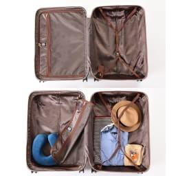 (Lサイズ 4輪/100L/4.36kg)Stratic(ストラティック)/「Leather & More」日本限定版 ハードスーツケース 大型(3-9902-75)|キャリーケース・キャリーバッグ Lサイズ