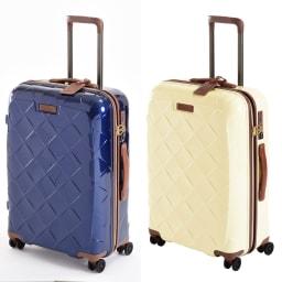 (Lサイズ 4輪/100L/4.36kg)Stratic(ストラティック)/「Leather & More」日本限定版 ハードスーツケース 大型(3-9902-75)|キャリーケース・キャリーバッグ Mサイズ/(ア)ネイビーブルー、(ウ)ミルク