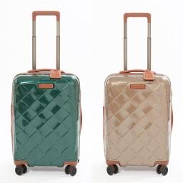 (Lサイズ 100L 4.36kg)Stratic(ストラティック)/「Leather & More」スーツケース|キャリーケース・キャリーバッグ (ア)ダークグリーン、(イ)シャンパンSサイズ