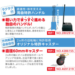 SWANY(スワニー)/支えるショッピングキャリーバッグ モノグラーモ・C M18 特許取得の湾曲ハンドルとキャスター