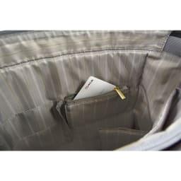 ace.GENE(エース ジーン)/スタンミー トート タテ型 女性のためのビジネストート 小物収納用ファスナーポケット
