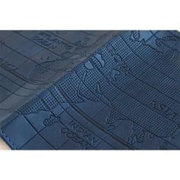 スキミング防止機能付き パスポートカバー(パスポートやクレジットカードの不正読み取りを防ぐ) (ア)ネイビー