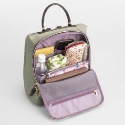 カナナプロジェクト/B5対応軽量リュック かさばる小物もすっきり収まる、収納力たっぷりのメインポケット。