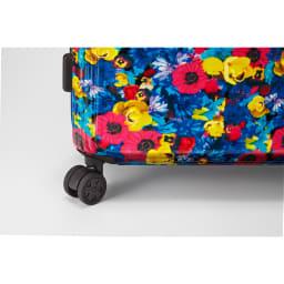 M / mika ninagawa(エム/ミカ ニナガワ)×ace.(エース)|35L スーツケース 旋回性に優れ、安定感のある双輪の静音キャスターを採用_ブルー柄キャスター