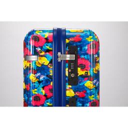M / mika ninagawa(エム/ミカ ニナガワ)×ace.(エース)|35L スーツケース TSAダイヤルロック搭載_ブルー柄(35Lサイズはサイドハンドル無)