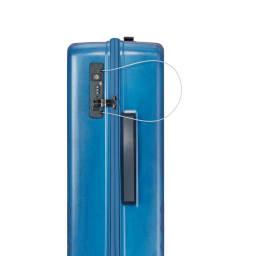 ACE HaNT(ハント)/ソロ ストッパー付スーツケース 53L TSAのダイヤル式ロック。セキュリティ向上のためにワイヤーロックも付いています