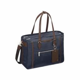 ace.GENE(エース ジーン)/ビエナ2 物が多い日も安心のたっぷりサイズ A4サイズ通勤トートバッグ (イ)ネイビー