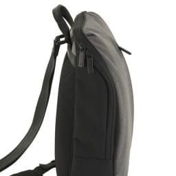 ace.(エース)/フェクロス 軽量ワンショルダーバッグ 中身の出し入れがしやすいラウンド形状のファスナー