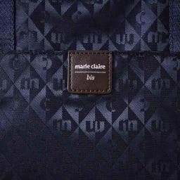 marie claire bis(マリ・クレール ビス)/ファセット ショルダーバッグ (イ)ネイビー…生地アップ