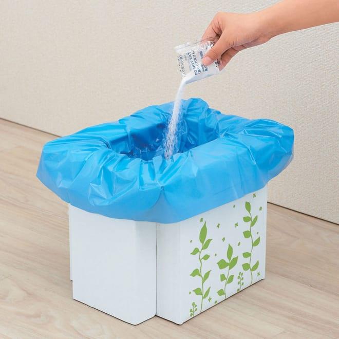 COGIT(コジット)/緊急用組み立て式トイレ 緊急用組み立て式トイレ…凝固剤を入れて使用.