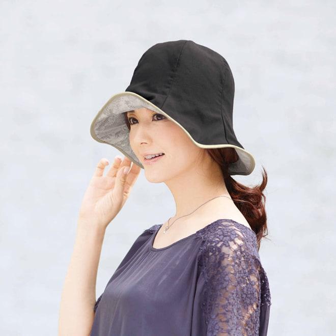 COGIT(コジット)/軽量はっ水アルミコーティング リバーシブル帽子 (ア)ブラック