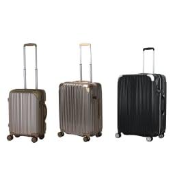 トライデント/拡張式ハードジッパースーツケース|キャリーケース・キャリーバッグ (ア)ゴールド、(イ)ブラック 小中大