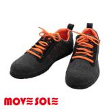 (ブラック)MOVESOLE(ムーブソール) スウェットタイプ レディースウォーキングシューズ(22-25.5cm)|スニーカー 写真