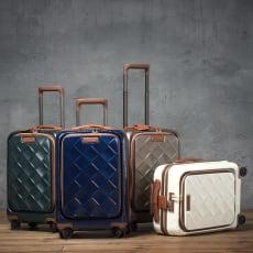 Stratic(ストラティック)/ 「Leather&More )」フロントオープンスーツケース 機内持込  4輪 33L 2.99kg|キャリーケース・キャリーバッグ