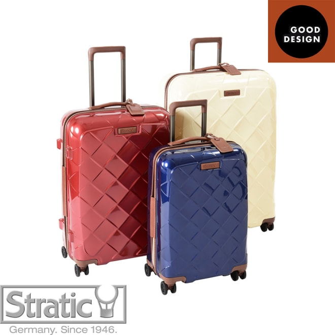 (Lサイズ 4輪/100L/4.36kg)Stratic(ストラティック)/「Leather & More」日本限定版 ハードスーツケース 大型(3-9902-75)|キャリーケース・キャリーバッグ S/M/Lの3サイズ