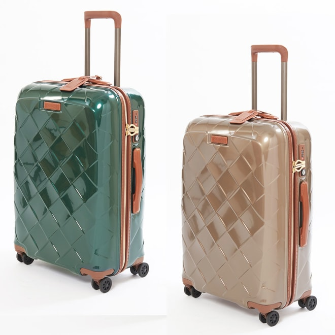 (Sサイズ 35L 2.61kg)Stratic(ストラティック)/「Leather & More」スーツケース|キャリーケース・キャリーバッグ (ア)ダークグリーン、(イ)シャンパンMサイズ