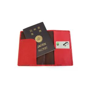 スキミング防止機能付き パスポートカバー(パスポートやクレジットカードの不正読み取りを防ぐ) 写真