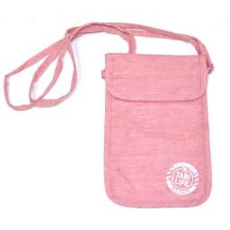 地球の歩き方×たかのてるこ 旅袋 ネックタイプ (エ)ピンク