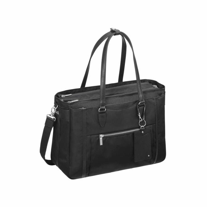 ace.GENE(エース ジーン)/ビエナ2 物が多い日も安心のたっぷりサイズ A4サイズ通勤トートバッグ (ア)ブラック