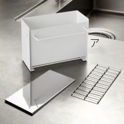 FRAMES&SONS(フレームズアンドサンズ)/kakusu(カクス)シリーズ 洗剤&スポンジラック 分解ができ清潔感も保てます