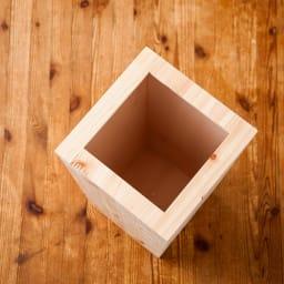 橋本達之助工芸/紀州檜天然木 ダストボックス Lサイズ(樹脂製ボックス付き)|ゴミ箱 開口部