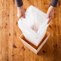 橋本達之助工芸/紀州檜天然木 ダストボックス Lサイズ(樹脂製ボックス付き)|ゴミ箱 樹脂製の中子に袋をセッティング
