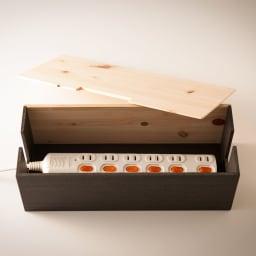 橋本達之助工芸/ケーブルボックス|国産 紀州檜天然木 蓋式でコードタップが簡単に収納可能