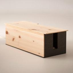 橋本達之助工芸/ケーブルボックス|国産 紀州檜天然木 両サイドにコード挿入口が装備されています