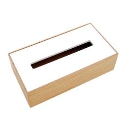 arenot(アーノット)/ORGAN TISSUE BOX オルガン ティッシュボックス オ:ナチュラル×ホワイト