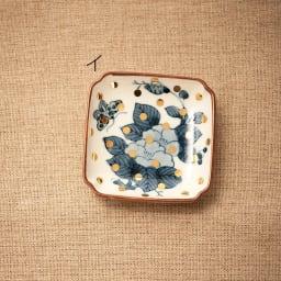 amabro(アマブロ)/MAME 有田焼豆皿1枚 イ:牡丹蝶文角皿