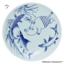 amabro(アマブロ)/MOOMIN×amabro SOMETSUKE 有田焼丸皿1枚 ウ:スイミング