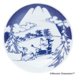 amabro(アマブロ)/MOOMIN×amabro SOMETSUKE 有田焼丸皿5枚セット 専用BOX付き スノーマウンテン