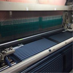 創業1866年槙田商店/傘生地を使ったポータブルバッグ(エコバッグ) ジャカード織 スクエアドット柄 傘生地製造工程