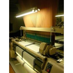 創業1866年槙田商店/傘生地を使ったポータブルバッグ(エコバッグ) ジャカード織 ドット&ボーダー柄 槙田商店のジャカード織機